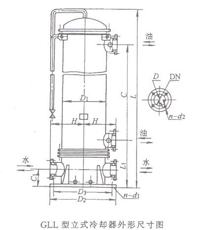 GLL型立式冷却器